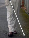 Man with white cane